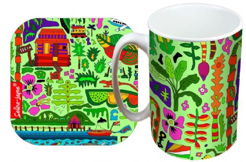 Selina-Jayne Tropical Paradise Limited Edition Designer Mug and Coaster Gift Set